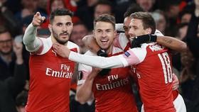 Arsenal tiến sát bán kết sau chiến thắng quan trọng trước Napoli. Ảnh: Daily Mail