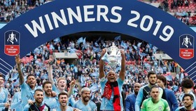 Man.City đang quang FA Cup đầy thuyết phục. Ảnh: Getty Images