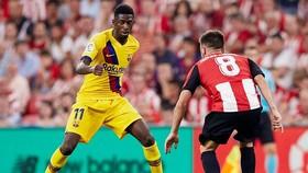 Ousmane Dembele bất ngờ chấn thương là cú sốc với Barca. Ảnh: Getty Images