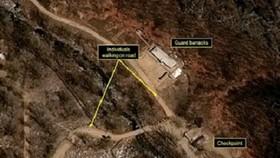 Ảnh chụp vệ tinh bãi thử hạt nhân ngầm của Triền Tiên. Ảnh: CNN.