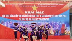 """Khai mạc tuần """"Đại đoàn kết các dân tộc  - Di sản văn hóa Việt Nam"""". Ảnh: TTXVN"""