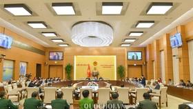 Toàn cảnh phiên họp thứ 30 của UBTVQH. Ảnh: QUOCHOI.VN