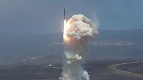 Tên lửa đánh chặn của Mỹ rời bệ phóng trong một thử nghiệm. Ảnh: Không quân Mỹ