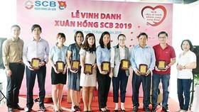 SCB tuyên dương các CBNV có đóng góp tích cực trong hoạt động  hiến máu nhân đạo