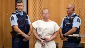 Brenton Harrison Tarrant tại Tòa án Quận Christchurch, New Zealand, ngày 16-3-2019. Ảnh: REUTERS