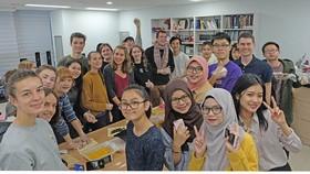 Một nhóm du học sinh tại Hàn Quốc