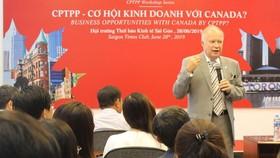Một buổi tọa đàm về - Cơ hội kinh doanh với Canada. Ảnh: TTXVN