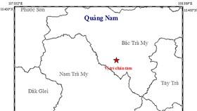 Động đất 3,8 độ richter ở Bắc Trà My