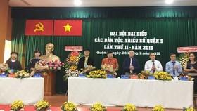 Đoàn Chủ tịch Đại hội đại biểu các dân tộc thiểu số quận 9 lần 2-2019