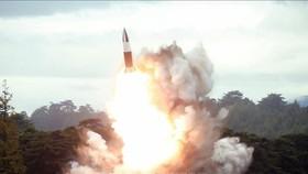 Vụ thử vũ khí mới được Triều Tiên thực hiện tại một địa điểm bí mật ngày 16-8-2019. Ảnh: TTXVN