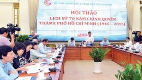 Chủ tịch UBND TPHCM Nguyễn Thành Phong phát biểu tại hội thảo. Ảnh: VIỆT DŨNG