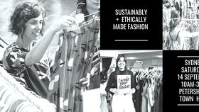 Hình ảnh quảng bá một hội chợ bán quần áo slow fashion tại Sydney, Australia