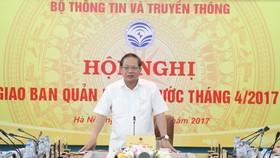 Bộ trưởng Trương Minh Tuấn phát biểu tại Hội nghị. Nguồn: mic.gov.vn
