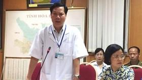 Ông Trương Quý Dương, Giám đốc BV đa khoa tỉnh Hòa Bình bị đề nghị cách chức Giám đốc Bệnh viện Đa khoa tỉnh Hòa Bình