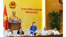 Chủ tịch Quốc hội Nguyễn Thị Kim Ngân phát biểu khai mạc phiên họp thứ 15. Ảnh: quochoi