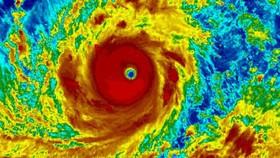 Siêu bão Mangkhut. Ảnh: NOAA