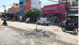 Công trình ở đường Huỳnh Tấn Phát thi công quá chậm làm ảnh hưởng đến cuộc sống người dân