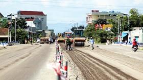 Khắc phục, sửa chữa các đoạn đường hư hỏng trên tuyến QL1A qua tỉnh Bình Định