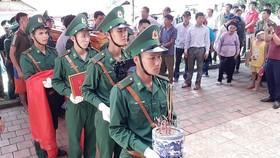 Lễ truy điệu Thiếu tá Vi Văn Nhất