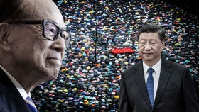 Hong Kong citizen Li Ka-shing offered some cryptic advice without saying who the advice was for, though he also appeared to be comparing President Xi Jinping to a tyrannical empress who maneuvered her sons to early deaths. (Nikkei montage/Getty Images, Re