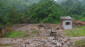 Hiện trường sau vụ nổ kho quân khí Công an tỉnh Hà Giang