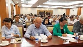 Người cao tuổi tham gia hội nghị. Nguồn: VOH