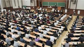 Sinh viên tham dự một bài giảng tại một trường đại học Nhật Bản. (Nguồn: kyodonews)