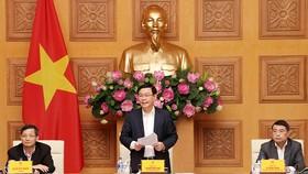 Phó Thủ tướng Vương Đình Huệ phát biểu tại phiên họp. Ảnh: VGP