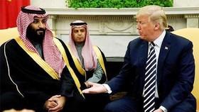 Tổng thống Mỹ Donald Trump tại một cuộc gặp với Thái tử Ảrập Xêút Mohammed bin Salman tại Nhà Trắng. Ảnh: Reuters
