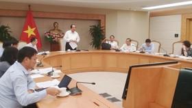 Bộ trưởng, Chủ nhiệm Văn phòng Chính phủ Mai Tiến Dũng phát biểu tại buổi làm việc. Ảnh: VGP