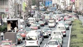 Xe lưu thông tại Tokyo, Nhật Bản