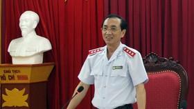 Phó tổng Thanh tra Chính phủ Đặng Công Huẩn phát biểu tại lễ công bố quyết định thanh tra. Ảnh: Thanhtra.gov.vn