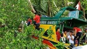 Hiện trường vụ tai nạn. (Nguồn: kaltim.tribunnews.com)