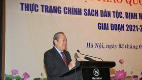 Phó Thủ tướng Thường trực Chính phủ Trương Hòa Bình phát biểu tại Hội thảo - Ảnh: VGP