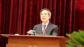 Ông Nguyễn Văn Bình, Ủy viên Bộ Chính trị, Trưởng Ban Kinh tế Trung ương phát biểu tại Hội nghị. Ảnh: VGP