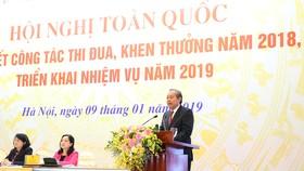 Ủy viên Bộ Chính trị, Phó Thủ tướng Thường trực Chính phủ Trương Hoà Bình phát biểu tại hội nghị. Ảnh: VGP
