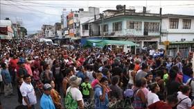 Người di cư Trung Mỹ tràn vào bang Oaxaca, Mexico