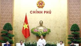 Thủ tướng Nguyễn Xuân Phúc chủ trì phiên họp Chính phủ thường kỳ tháng 5 năm 2019. Ảnh: TTXVN  