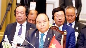 Thủ tướng Nguyễn Xuân Phúc dự Phiên toàn thể Hội nghị cấp cao ASEAN lần thứ 34. Ảnh: TTXVN
