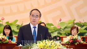 Đồng chí Nguyễn Thiện Nhân, Bí thư Thành ủy TPHCM phát biểu chỉ đạo đại hội. Ảnh: hcmcpv