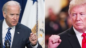 Ông Joe Biden (trái) và Tổng thống Donald Trump