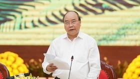 Thủ tướng Nguyễn Xuân Phúc phát biểu kết luận cuộc làm việc - Ảnh: VGP/Quang Hiếu