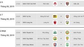 Lịch thi đấu vòng 19 Giải hạng nhất Quốc gia LS 2019 (ngày 23, 24 và 25-8)