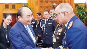 Thủ tướng tiếp các Trưởng đoàn dự Hội nghị Tư lệnh Cảnh sát các nước ASEAN lần thứ 39 tại Việt Nam. Ảnh: TTXVN