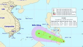 Tropical depression appears near East Sea