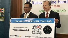 Thailand receives rabies vaccines from US