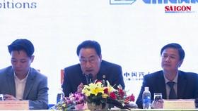At press meeting -Photo Dinh Du
