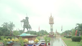 The area where the Vietnam-Cambodia Friendship Monument (in the back) is located in Kep province, Cambodia (Photo: VNA)