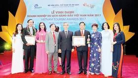 Công ty Dịch vụ lữ hành Saigontourist tại lễ trao giải