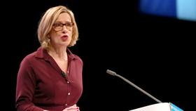 Bà Amber Rudd, bộ trưởng nội vụ Anh. Ảnh: REUTERS